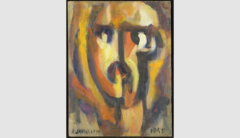Angelo Caviglioni_ Filippo Tommaso Marinetti 1945 olio su cartone