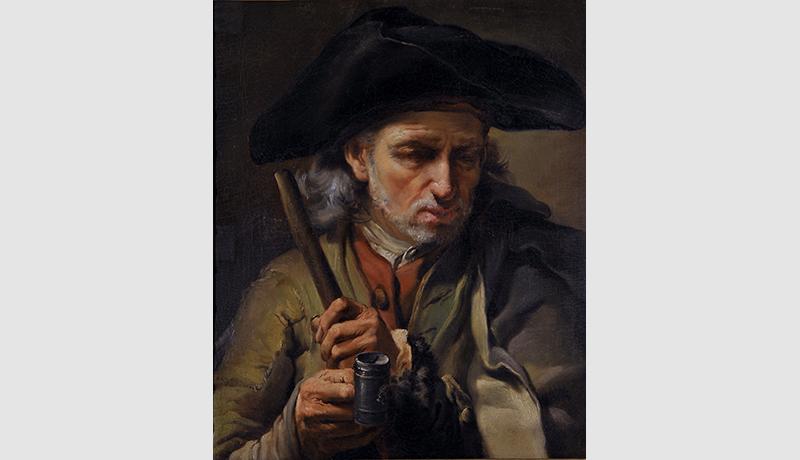 Gaetano Gandolfi_ritratto di mendicante cieco 1771 olio su tela