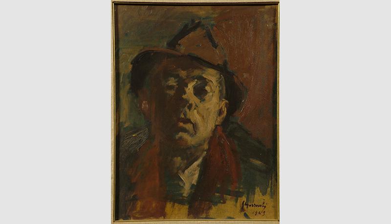 Gino Marzocchi Autoritratto 1943 olio su tavola