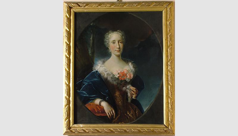 Luigi Crespi_Ritratto di nobildonna 1737 olio su tela
