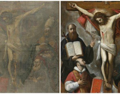 """Progetto """"Quadri sacri"""". Presentazione del restauro del dipinto di Giacomo Cavedone """"Trinità e santi"""""""