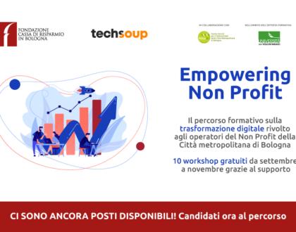 """Riaperte le iscrizioni ad """"Empowering Non Profit"""", il percorso formativo sulla trasformazione digitale rivolto agli operatori del Terzo Settore della Città metropolitana di Bologna"""